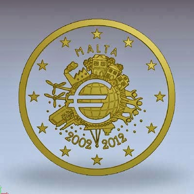 2 euro Malta 2012, Euro cash