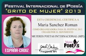 Credenciales como organizadora, 2013