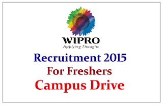 Wipro is Hiring Freshers WASE and WiSTA campus drives 2015 in many locations