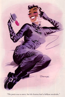 Catwoman revelling in her score