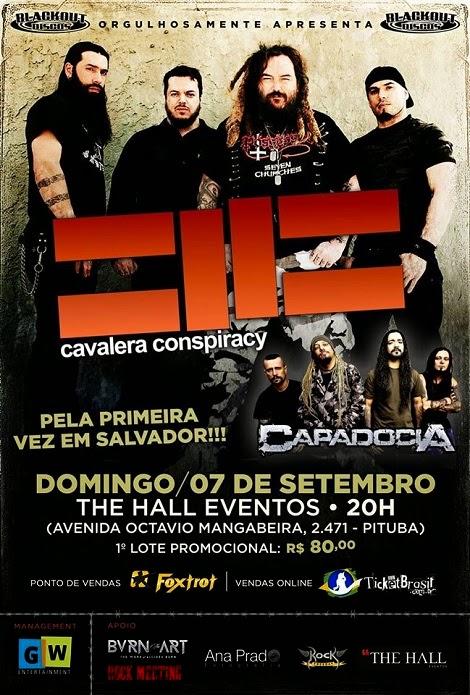 07-09-2014 - CAVALERA CONSPIRACY e CAPADOCIA - Salvador - BA