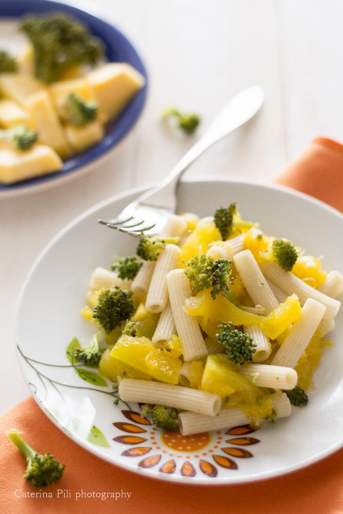 Pasta gluten free con zucca e broccoli