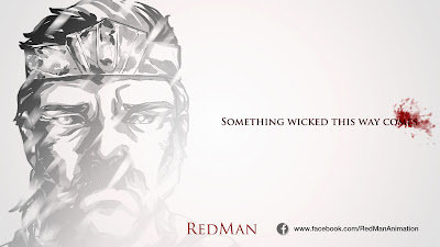 "© 2013 ""Red Man: Something Wicked This Way Comes"" social media title card. Art by Dulani Wilson. All Rights Reserved."