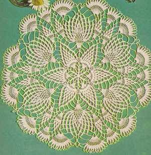 "Centro de Mesa ""Los Cardos"" a Crochet"