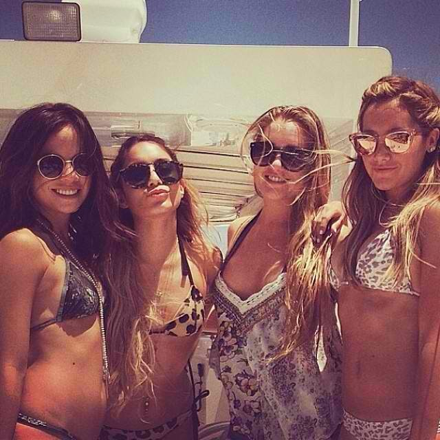 Ashley Tisdale's bachelorette party in Miami.
