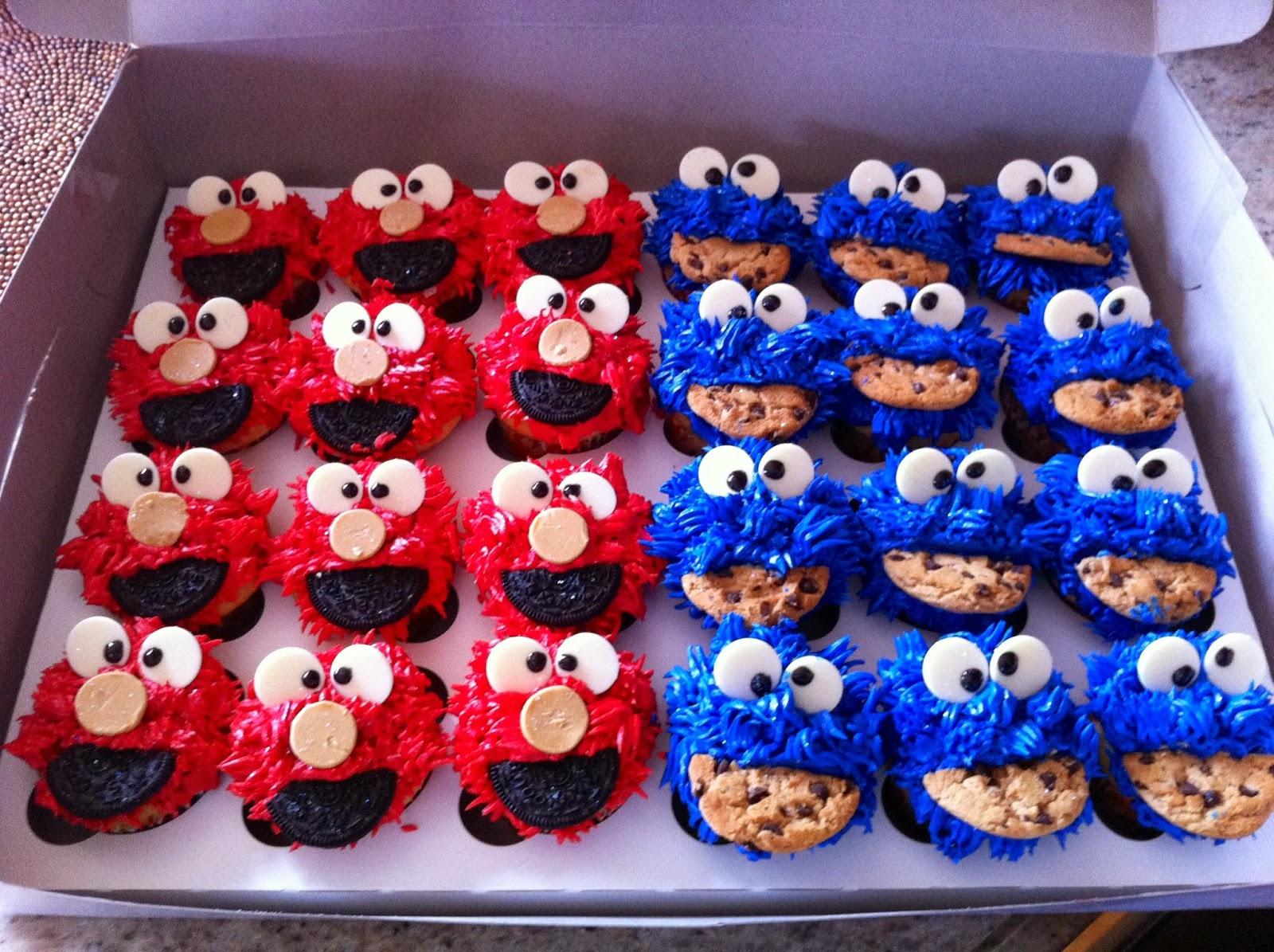 Veronicakes Newport Beach: Elmo x Cookie Monster Cupcakes