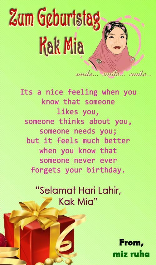 Nota Cinta : Happy birthday, kak mia. ^_^