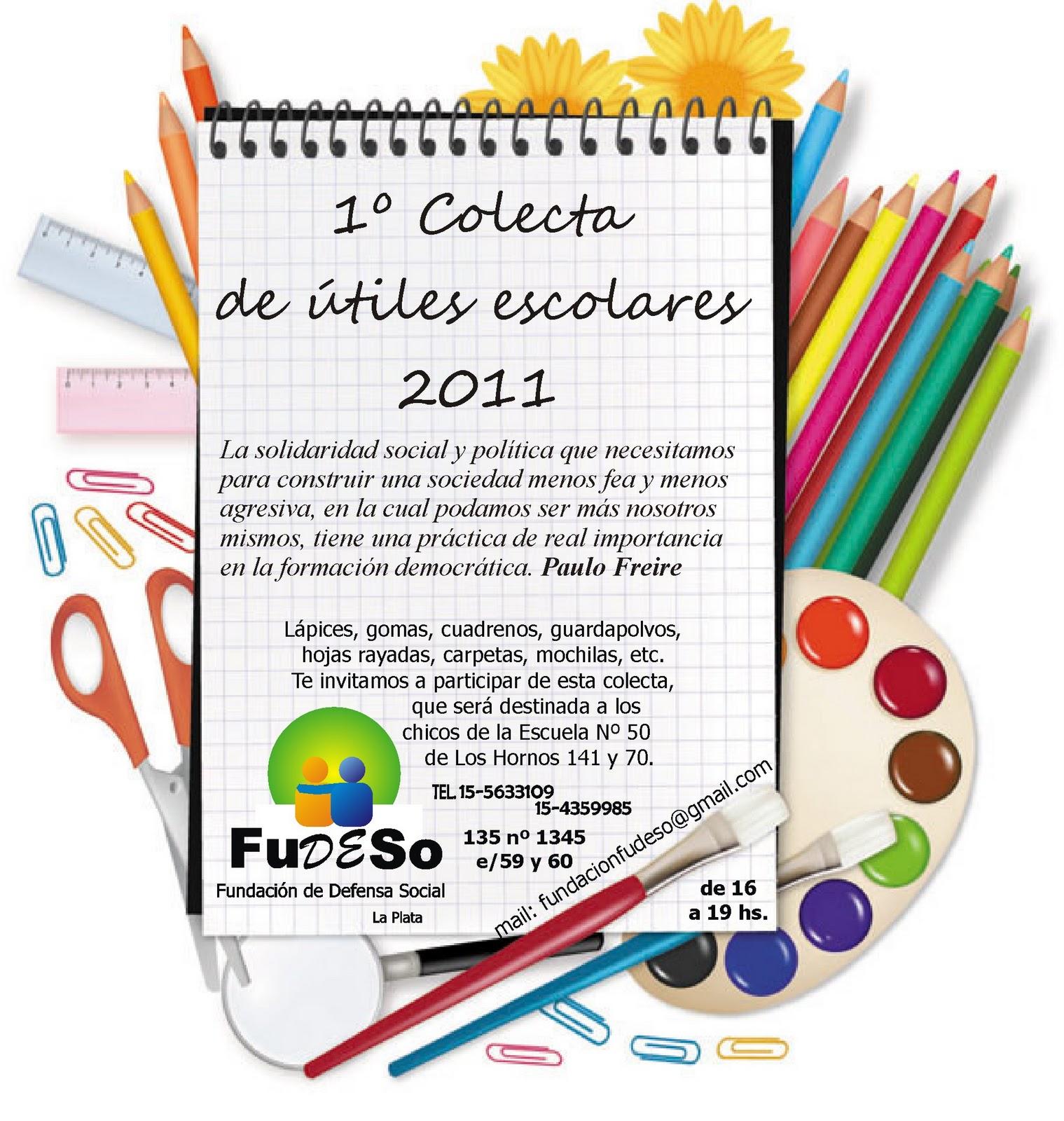 Colecta de útiles escolares 2011
