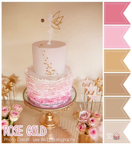 Inspire Sweetness Rose Gold Color Palette