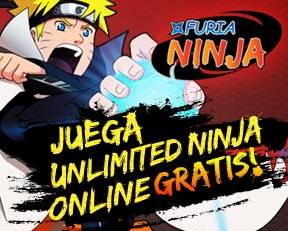 Registrate ya y juega furia ninja