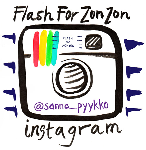 Flash For Zonzon in Instagram @sanna_pyykko