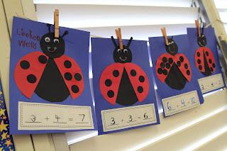 Ladybug Addition Craft on Ladybug Math Addition Worksheet Kindergarten