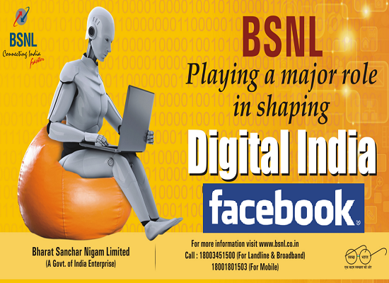 Facebook in association with BSNL to Offer 20GB WiFi Broadband @ just Rs 200 to Rural India