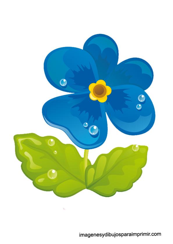 Dibujos De Flores Azules