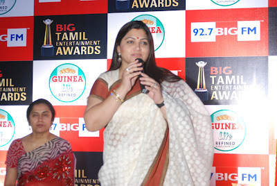 kushboo in saree at big fm et awards glamour  images