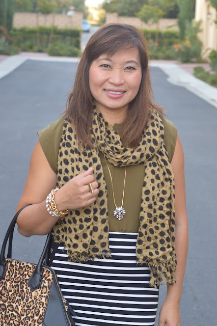 Pattern Mixing, Fashion over 40, J Crew Silk zip Tank