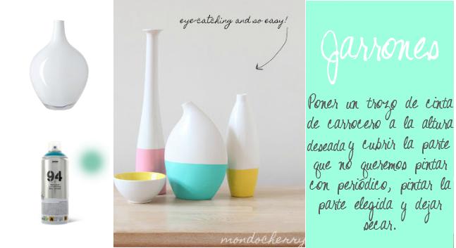 jarrones reciclados pintar DIY