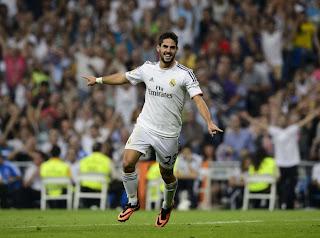 Isco celebrando su gol ante el Getafe