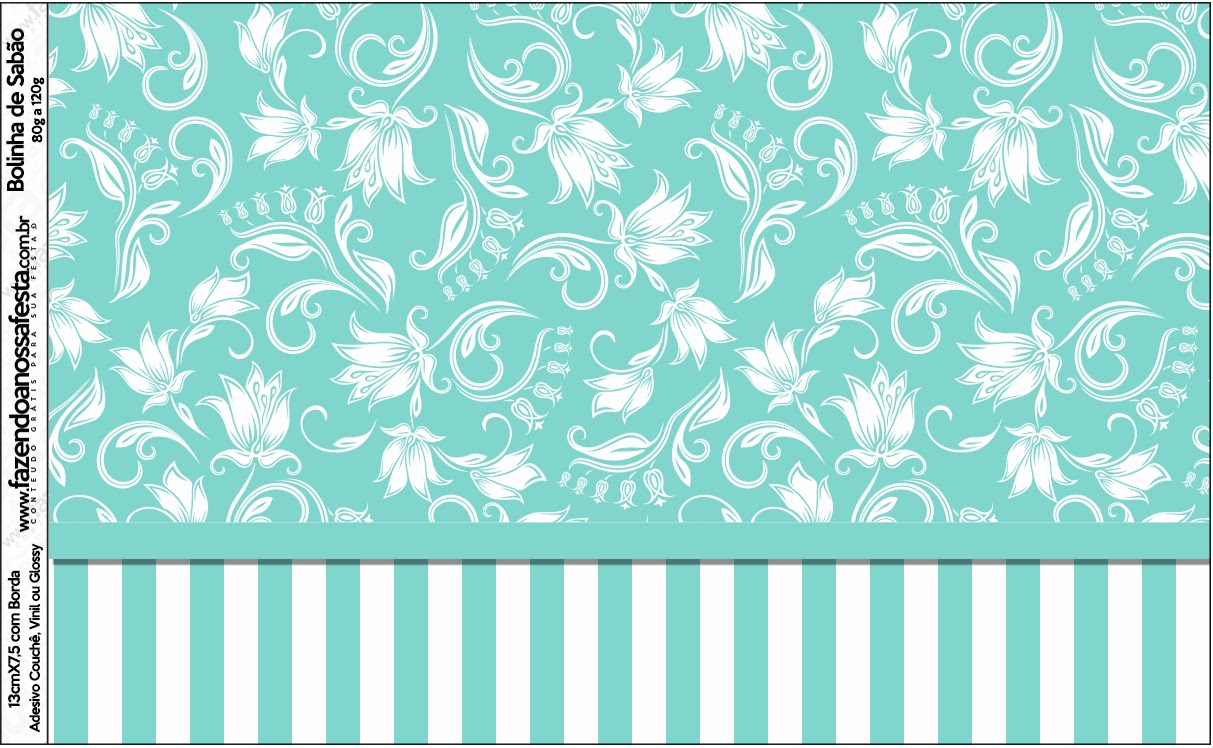 Tiffany s party free printable candy bar labels oh my - Papel decorativo infantil ...