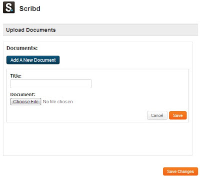Add new document in the Scribd for Pages