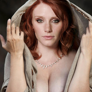 Bryce Dallas Howard hot cleavage photoshoot areola and nip slip UHQ