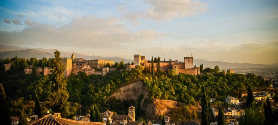 Alhambra je maurský palác město nacházející se v Granadě, Španělsko.