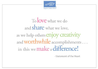 Stampin' Up! Statement of the Heart - Making a Difference for 25 Years - find out how Stampin' Up! can make a difference for you by emailing bekka@feeling-crafty.co.uk