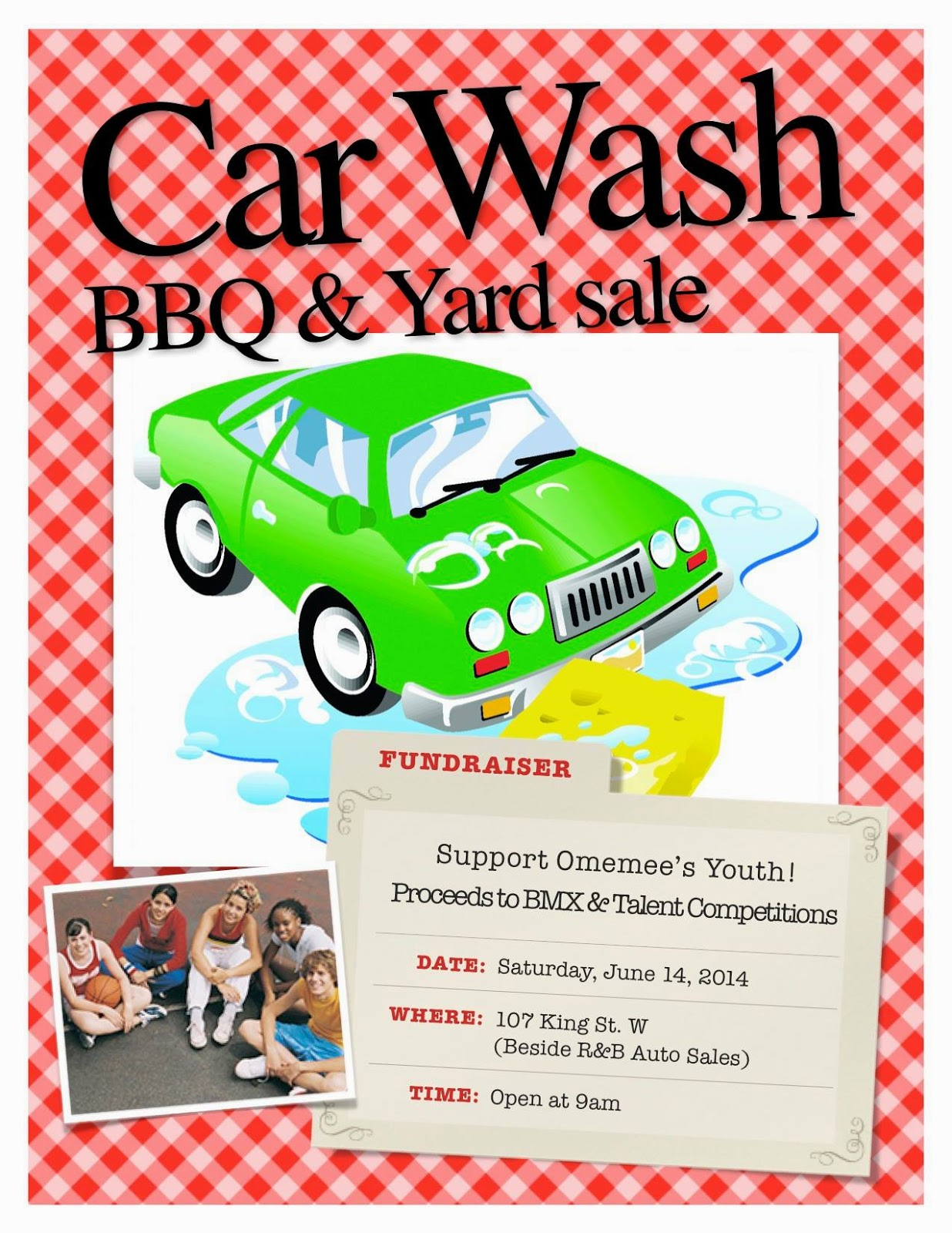 Omemee June 14 Car Wash BBQ and Yard Sale