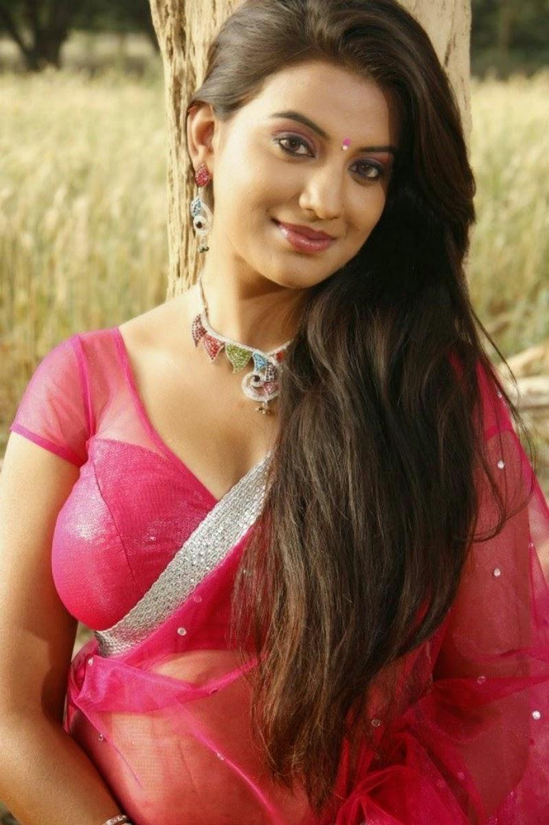 Actress Juhi Latest Cute Hot Exclusive Transparent Saree Navel Show Spicy Photos Gallery