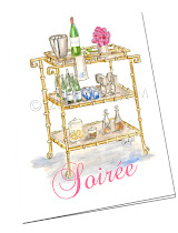 BAR CART SOIREE BLANK NOTES