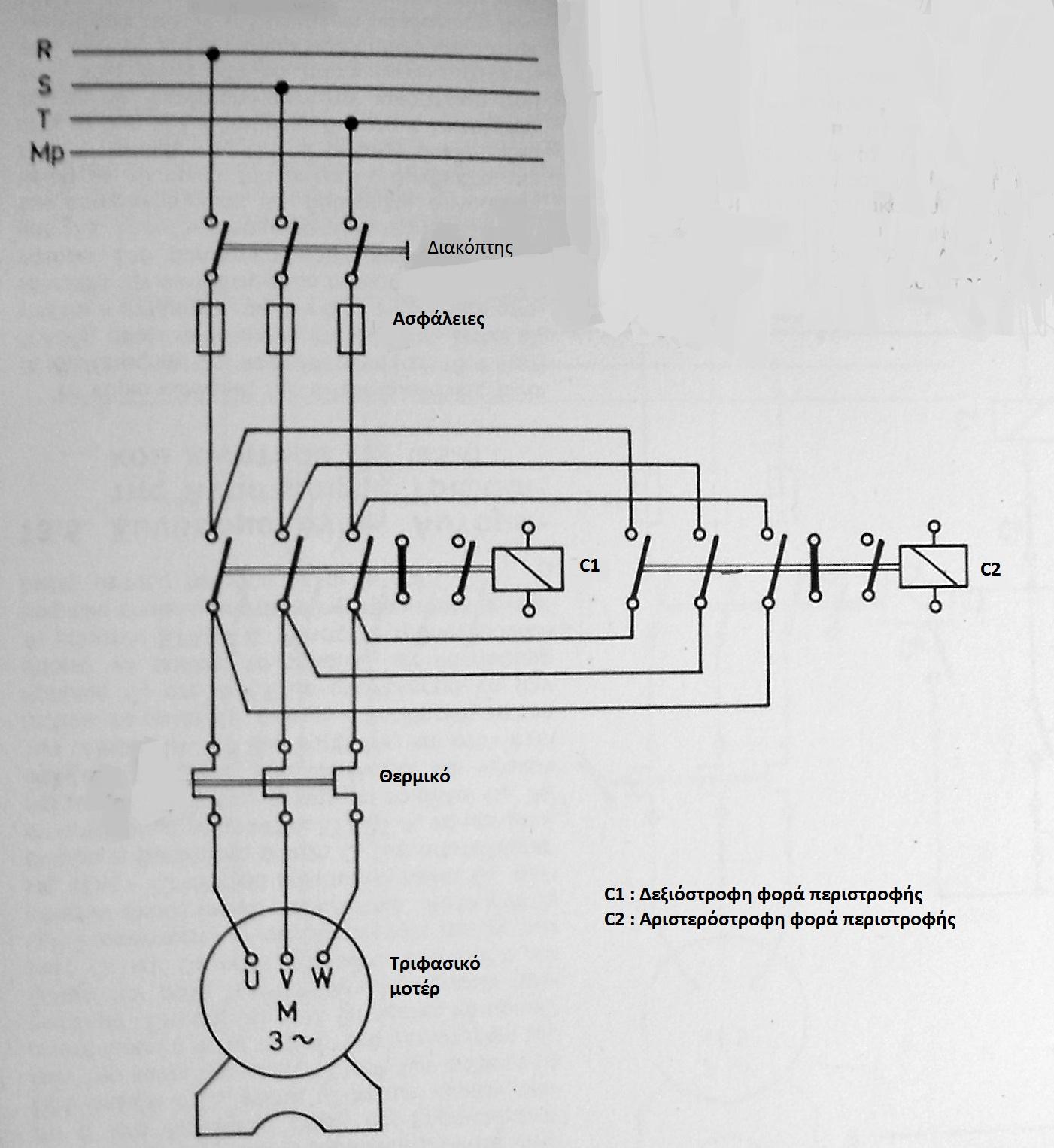 Elektrotechniker: Schaltplan für Stromkreis Rechts-und Linkslauf ...