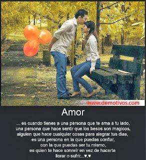 Frases De Amor: Amor Es Cuando Tienes Una Persona Que Te Ama A Tu Lado Una Persona Que
