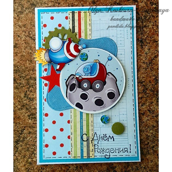 Spellbinder, Sizzix, Crate paper little boy blue and echo park paper