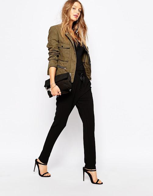 pimkie khaki jacket, pimkie jacket, pimkie coat, khaki short coat, khaki short jacket,