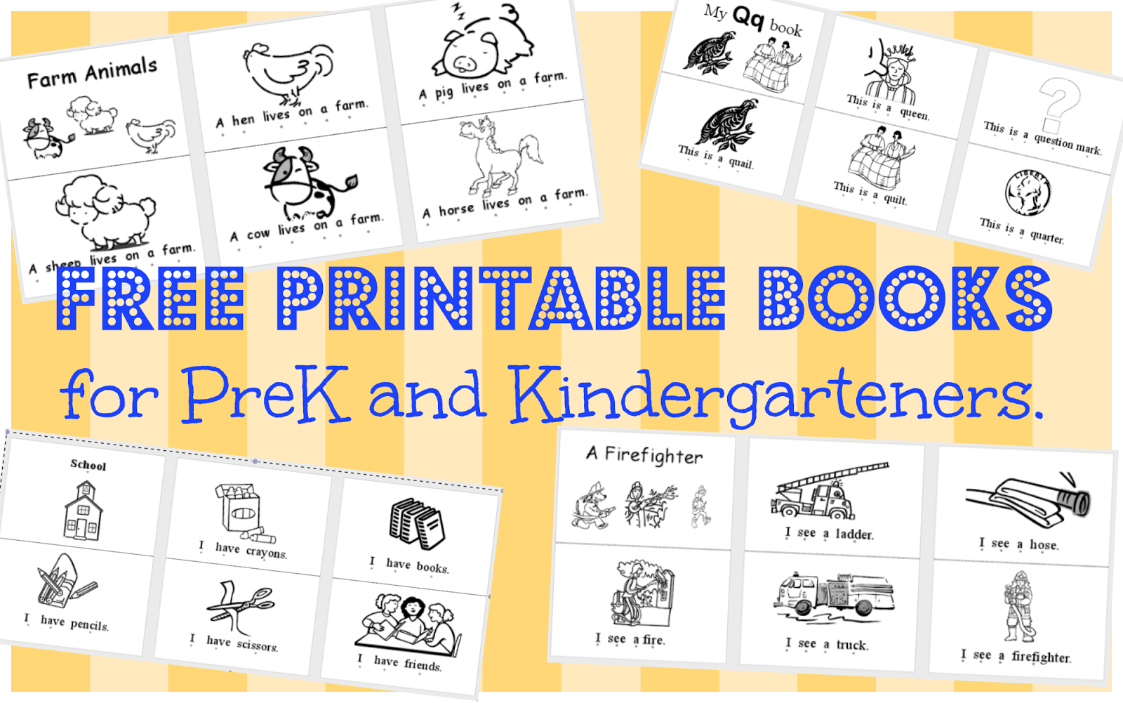 Free Printable Kindergarten Sight Word Books