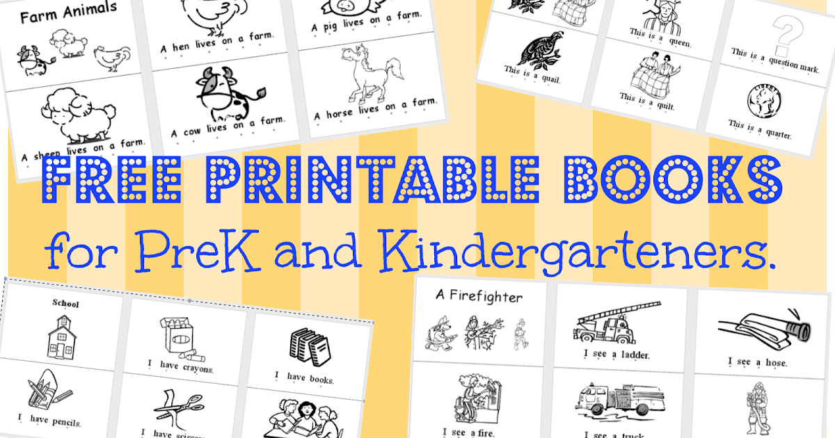 Wild Rumpus School House: *Printable BOOKS (PK-K)