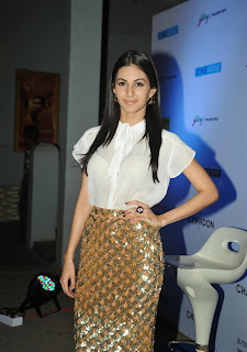 Amyra Dastur in Thin White Top and Skirt at Cineplay Festival opening Mumbai