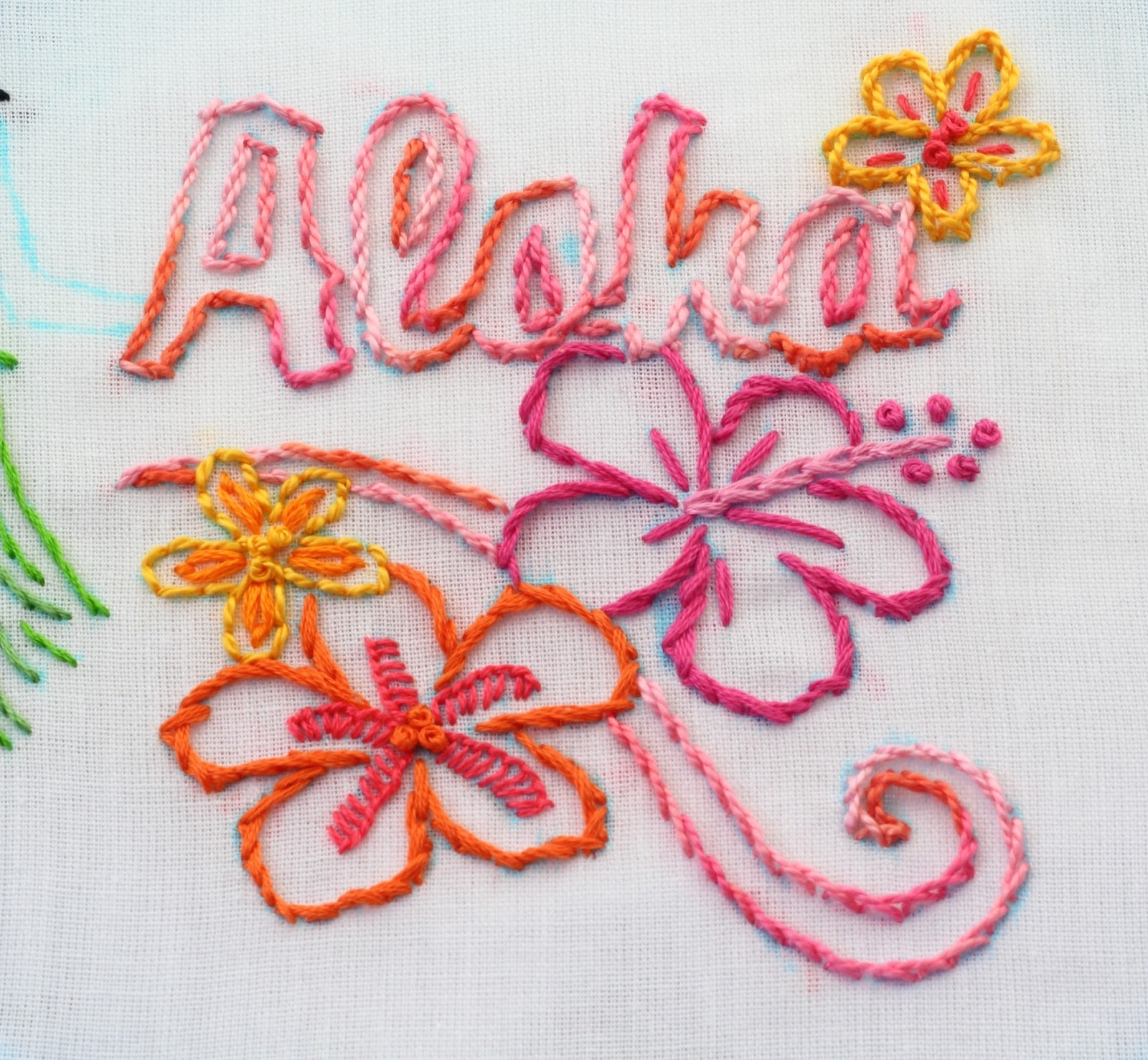 Big b hawaii embroidery pattern