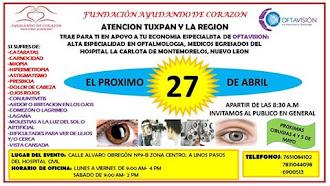 FUNDACIÓN AYUDANDO DE CORAZÓN Y OFTAVISIÓN  DE NUEVO EN TUXPAN