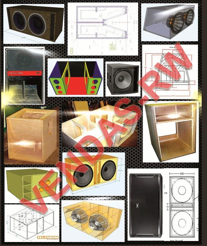 Projetos de caixas para Graves e Line array