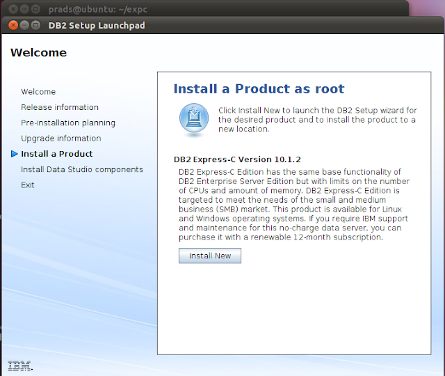 Manual Installation of DB2
