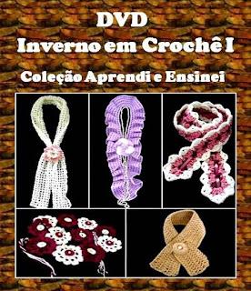 dvd inverno golas cachecois frete gratis loja curso de croche aprender croche