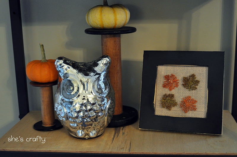 She 39 s crafty fall decorations for Home goods fall decorations