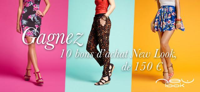 Jeu concours: 10 bons d'achat de la marque New Look d'une valeur de 150 €  bon plan