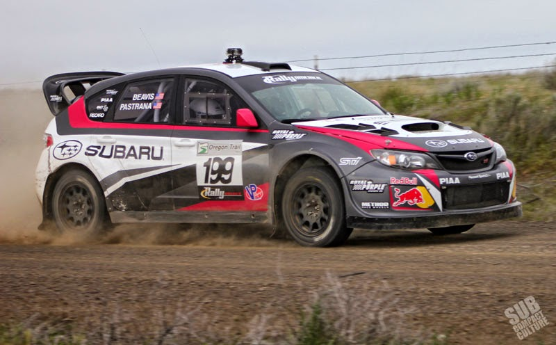 Travis Pastrana's Subaru WRX STI at Oregon Trail Rally