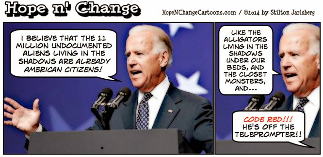 obama, obama jokes, cartoon, humor, biden, illegal, aliens, immigration, stilton jarlsberg, hope n' change, conservative, tea party