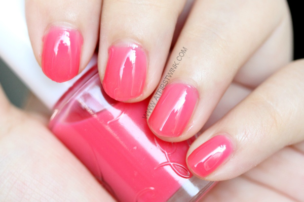 Etude House nail polish PK001 - Cherry Blossom syrup close up on nails