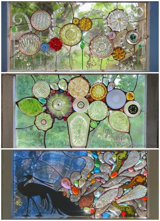 Repurpose scrap glass wonders the refab diaries for Broken glass crafts