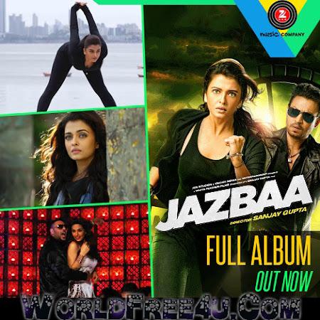 Poster Of Bollywood Movie Jazbaa 2015 300MB HDRip 480P Full Hindi Movie