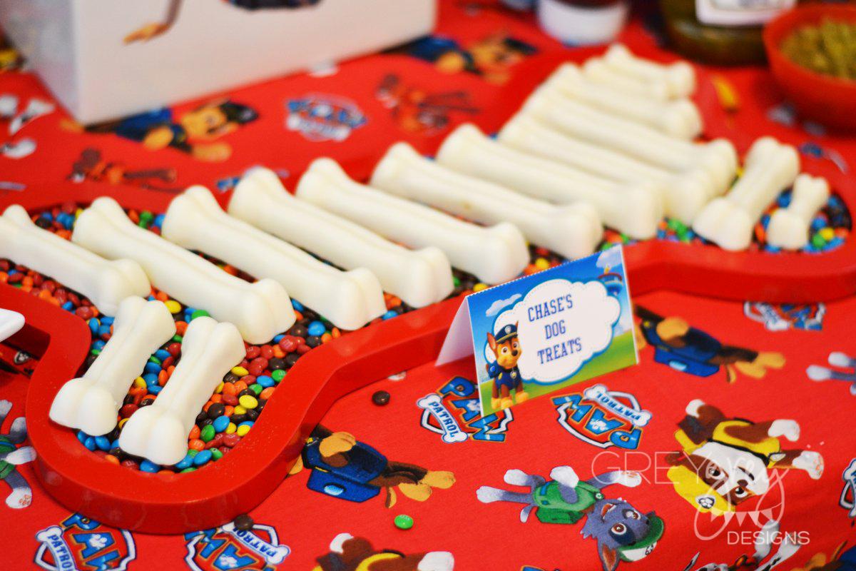 Paw Patrol Dog Bone Birthday Cake